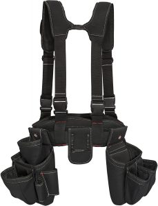 Dickies 4-Piece Carpenter's Rig And Padded Tool Belt Suspenders