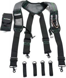 Melo Tough Gel Construction Work Suspender Tool Belt Suspenders