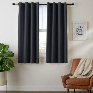 AmazonBasics Room Darkening Blackout Window Curtains