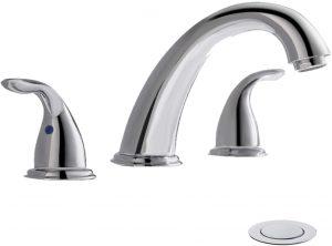 Chrome Widespread Bathroom Sink Faucet