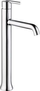 Delta Faucet Trinsic Vessel Sink Faucet, Single Hole Bathroom Faucet