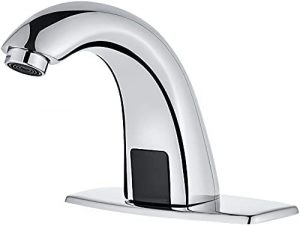 Luxe Automatic Touchless Bathroom Sink Faucet with Hole Cover Plate