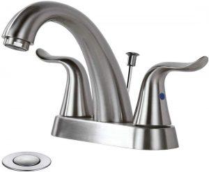 WOWOW Bathroom Faucet 2 Handle 4 Inch Centerset Bathroom Sink Faucet